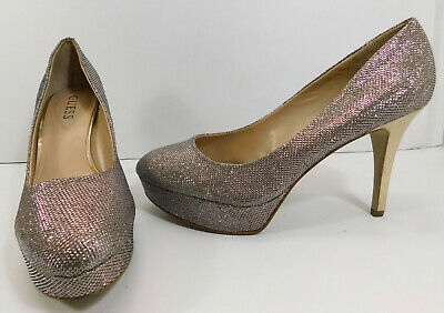 - GUESS Rhinestone High Heel Pumps Closed Toe Shoes Heels Stilettos WOMEN'S 10M