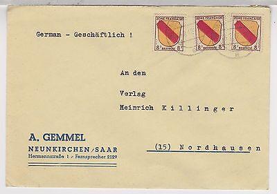 Franz.Zone/ Allg.Ausg., Mi. 4 MeF, Neunkirchen/Saar, 4.2.47