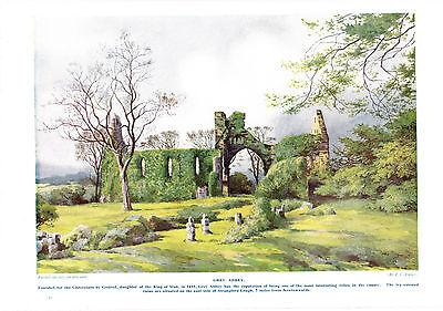Grey Abbey. Scarce print circa 1920s