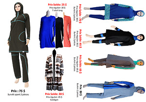 Hijab, Burkini,  islamic swimwear, survettes sport
