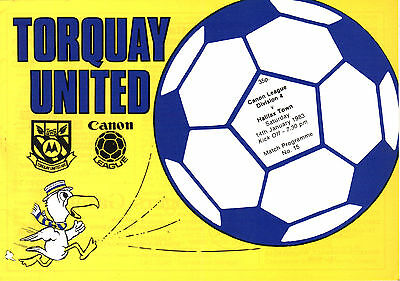 1983/84 Torquay United v Halifax Town, Division 4, PERFECT CONDITION