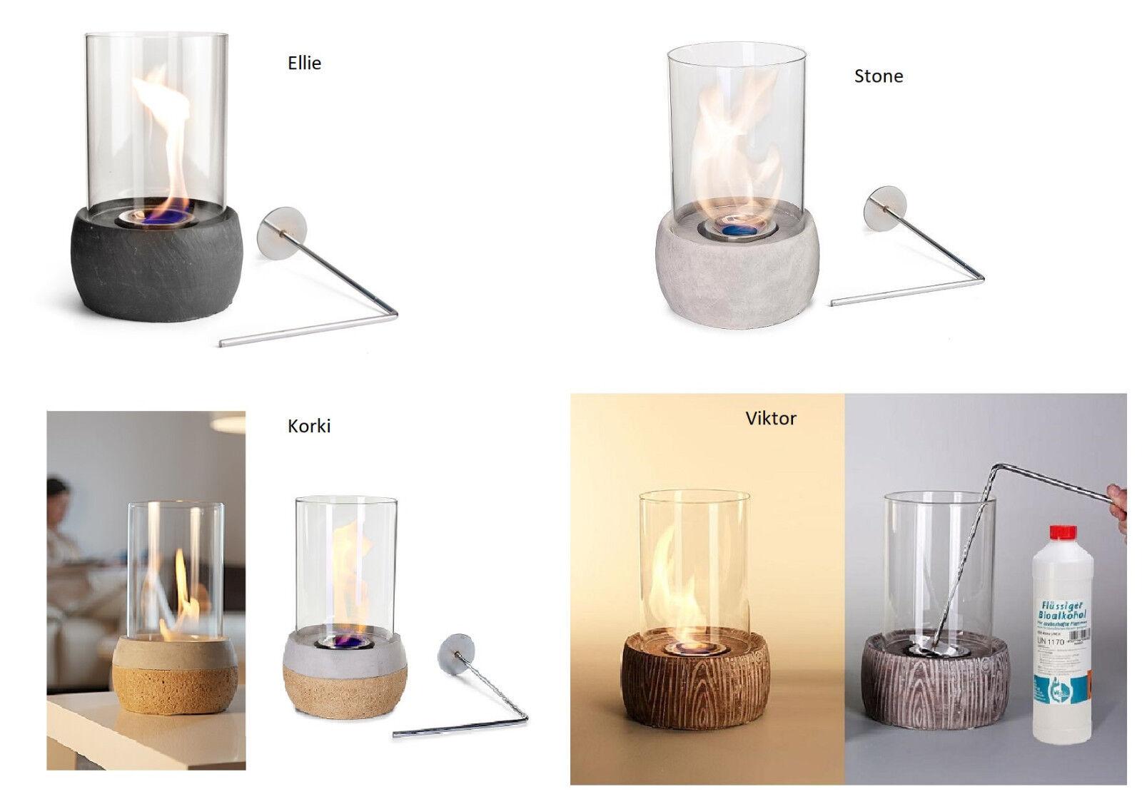 Auswahl 4 Modelle von Tischfeuer Tischkamin Feuerstelle Kamin Gelkamin