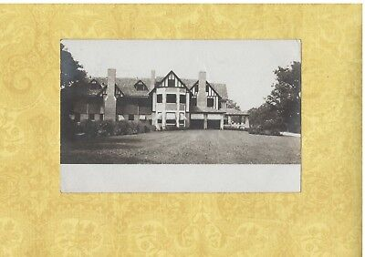 IL Lincolnwood area 1907 RPPC postcard LARGE HOME Illinois to New Jersey Illinois Home Jersey