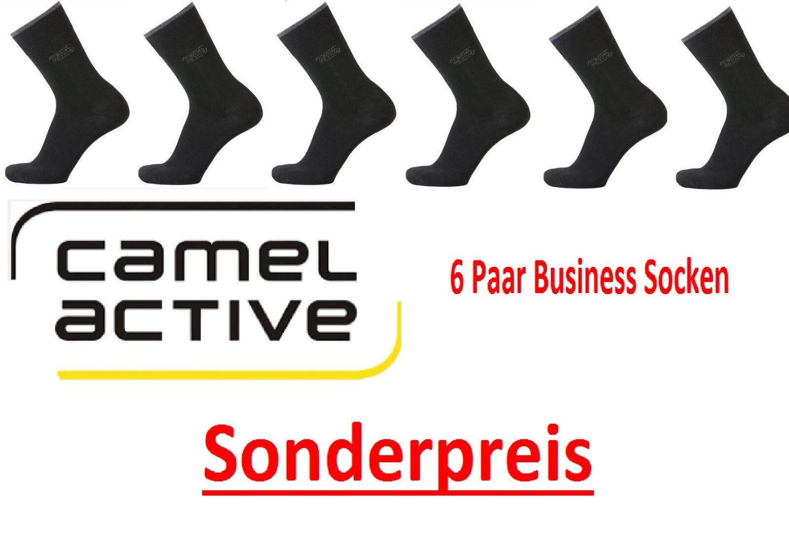 Camel Active - Herrensocken - 6 Paar - schwarz - Gr. 39/42 / Sonderangebot