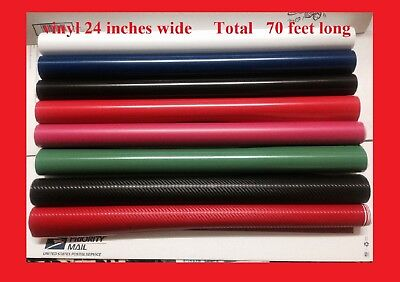 8 Rolls Plotter Vinyl 70 Ft Total Liquidation 24 Inches Great Deal Fresh