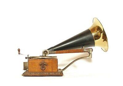 1901 Victor B Phonograph * Fleur De Lis * Berliner Gramophone Era