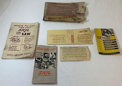 vintage SKILSAW brochures and paperwork