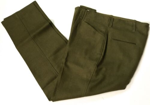 WWI US ARMY WOOL INFANTRY M1918 COMBAT FIELD TROUSERS-XLARGE