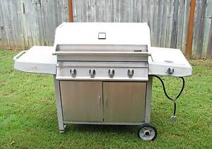 4 Burner stainless steel BBQ with side wok burner Palmwoods Maroochydore Area Preview