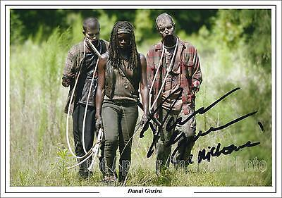 The Walking Dead Danai Gurira Signed Photo Michonne Pre-Print  Size A4