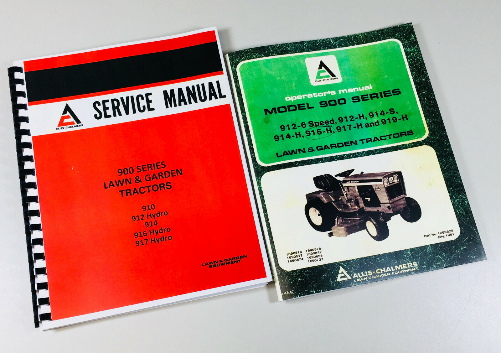 Allis Chalmers 912h 914 916h 917h Lawn Garden Tractor Service Operators Manual