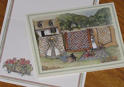 Sherri Buck Baldwin Art - Country Quilts 1993 Lang Graphics 4 x 5 Note Cards 4ct