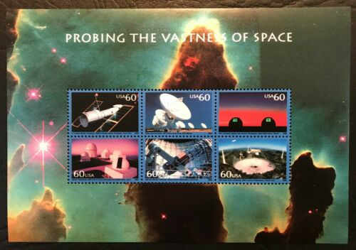 2000 Scott #3409, $3.60, PROBING THE VASTNESS OF SPACE  - Mint NH - Sheet of 6