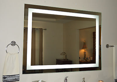 Lighted bathroom vanity mirror led wall mounted 48 for Mirror 48 x 60