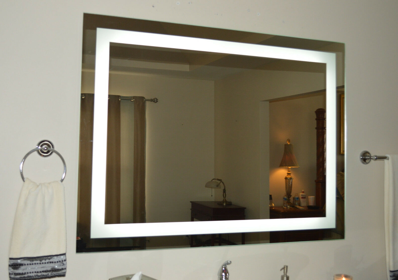 Lighted Bathroom Vanity Mirror, Led , Wall Mounted, 48