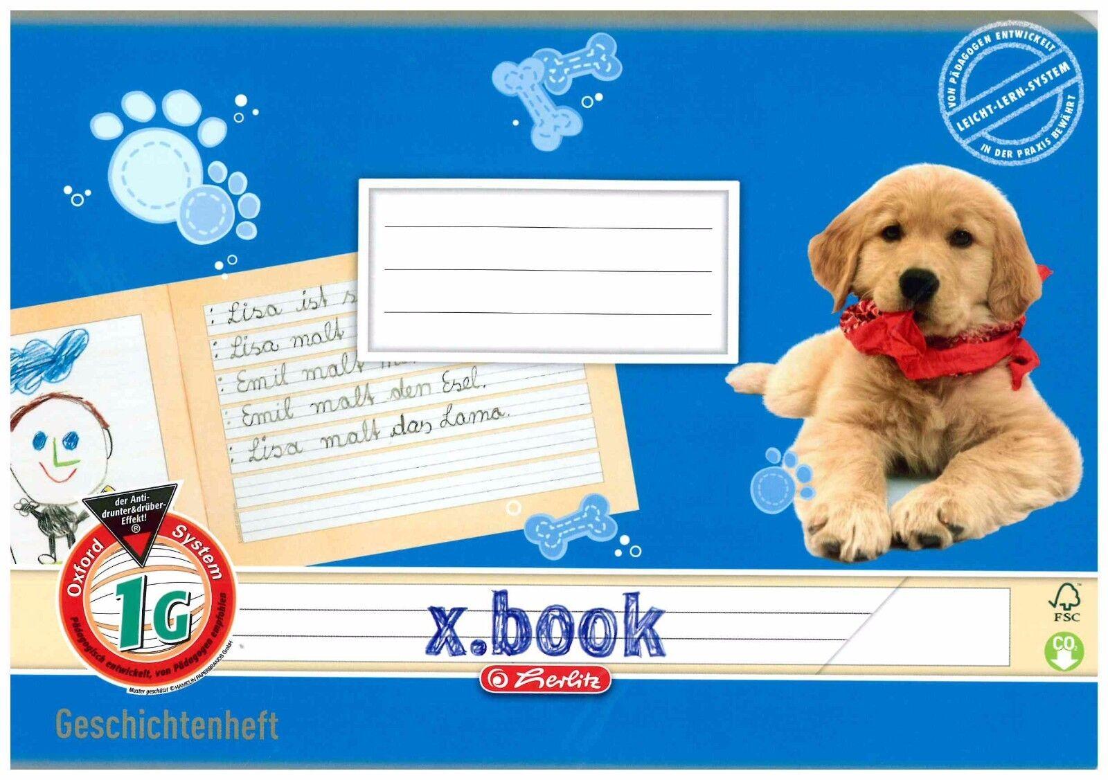 herlitz Geschichtenheft x.book DIN A5 quer Lineatur 1G
