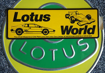 Lotus World original sticker 1980 F1 Andretti Peterson