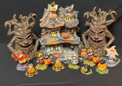 Halloween House With Spooky Trees Display for Wee Forest Folk WFF not Included