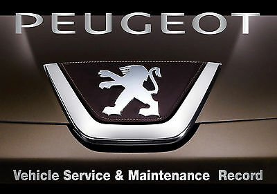 SERVICE HISTORY BOOK SUITABLE FOR ALL PEUGEOT CARS BLANK & UNSTAMPED