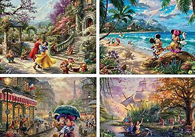 Ceaco Thomas Kinkade The Disney Collection 4 in 1 Multipack Snow White, Micke...