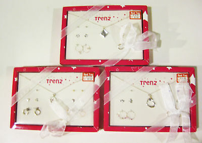 New Closeout Lot of 60 Necklace Earrings Boxed Sets by Trenz