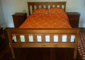 Timber Queen Bed, bedside tables and large dresser Manly Manly Area Preview