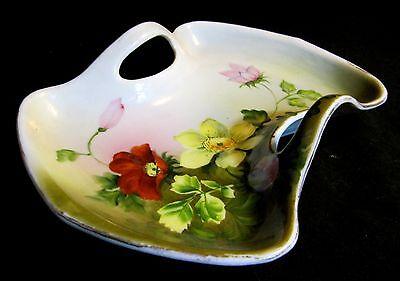 Antique Nippon Nagoya Shofu Double Handle Nut Fruit Bowl Gold Gild c 1891-1920
