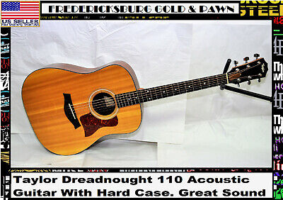 Taylor Dreadnought 110 Acoustic Guitar - With Hard Case. Great Sound and feel!