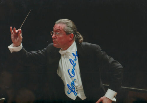 Autographs-original Rapture Sylvain Cambreling Conductor Signed 8x12 Inch Photo Autograph Music