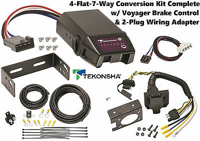 1995-2009 DODGE RAM TEKONSHA 4FLAT-7WAY CONVERSION W/ VOYAGER BRAKE CONTROL NEW