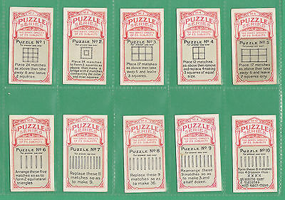 B.A.T.  CO.  LTD.  -  RARE  SET  OF  25  ' PUZZLE  SERIES '  CARDS  -  1916