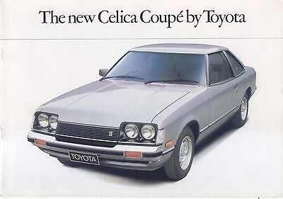 Toyota Celica 1600 ST Coupe 1978-79 Original UK Sales Brochure