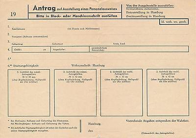 Antrag auf Ausstellung eines Personalausweises Hamburg 3.63 - 91.685f