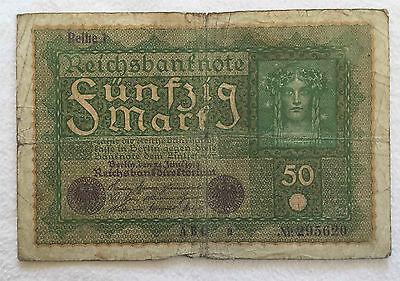 Reichsbanknote 50 Mark - Reichsbandirektorium, 1919, Reihe 1, Nr. 295620