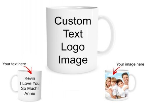 Custom Photo Mug Create a Personalized Gift with your Photos or Text Customized