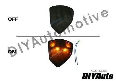 Tow Mirror Turn Signal Smoked Driver Side Left LH for Dodge Ram Pickup Truck New
