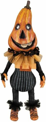 Pumpkin Head Doll DUGAN, Gallerie II Fabric/Resin Handcrafted Hand Painted