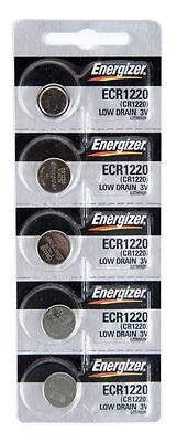 Energizer ECR1220 (CR1220) 3V Lithium Coin Batteries (1 pack of 5)