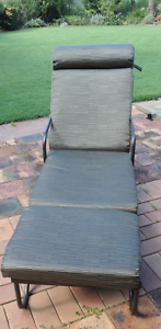 BLACK PAINTED 70s RECLINER FOR PATIO WITH MODERN CUSHIONS Birkdale Redland Area Preview