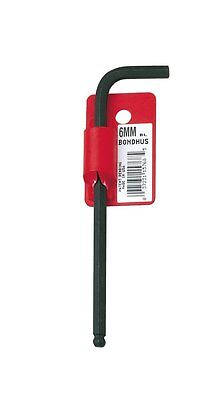 Bondhus 15756 3mm Ball End Tip Hex Key L-Wrench w/ProGuard Finish, Long Arm