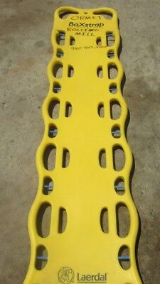 Nice Used Yellow Laerdal Baxstrap Spineboard 12 Pins Model 982500