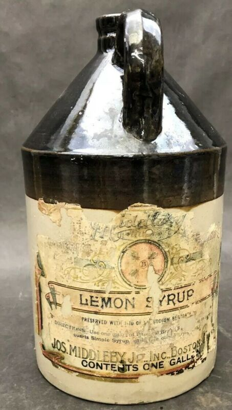 Vintage Middleby Lemon Syrup Soda Fountain Crock