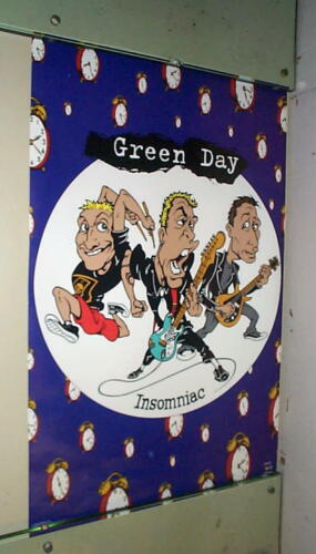 GREEN DAY Cartoon  Vintage 1996 Poster