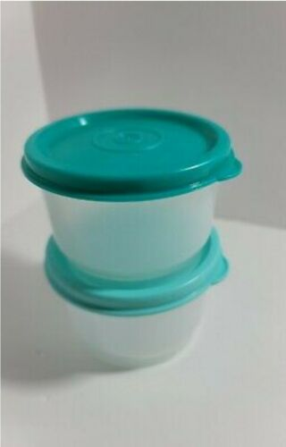 New TUPPERWARE Snack Cups SET OF 2 Containers w/Seals FREE US SHIP