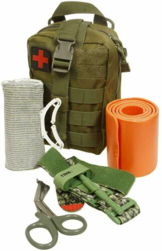 Best NEW ASATECHMED EMERGENCY SURVIVAL TRAUMA MEDICAL KIT W/ MOLLE POUCH FIRST AID KIT
