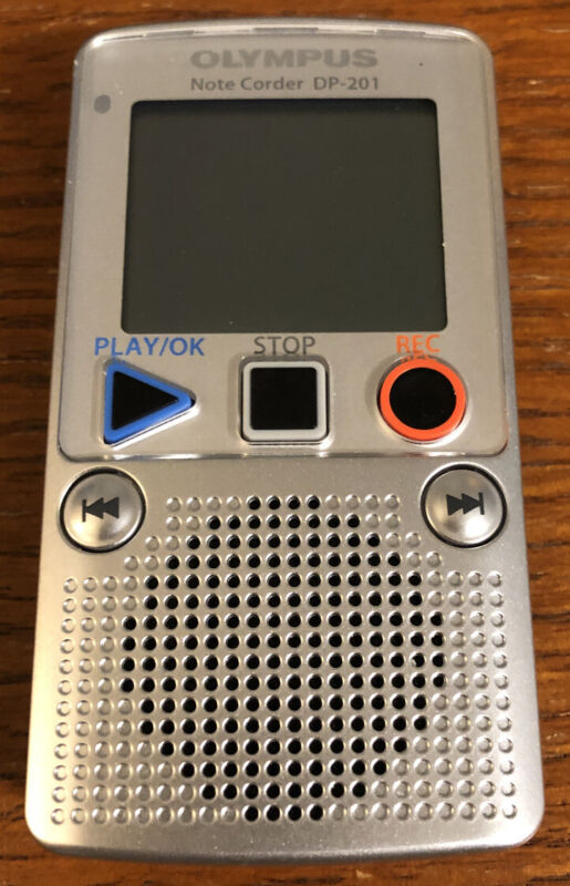 Olympus Note Corder DP-201 Handheld Digital Voice Recorder