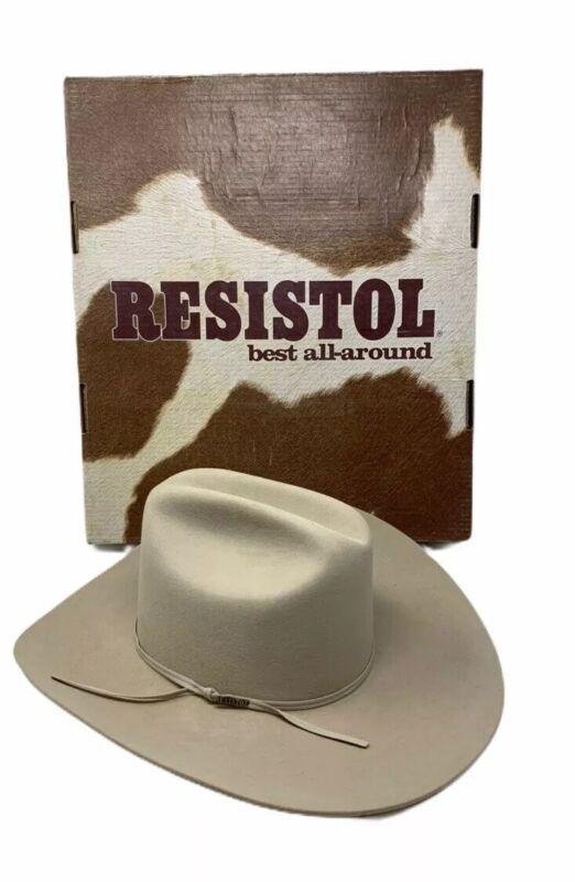 RESISTOL COWBOY HAT Cattleman Beaver 6X Buckskin Self Conforming 6 7/8