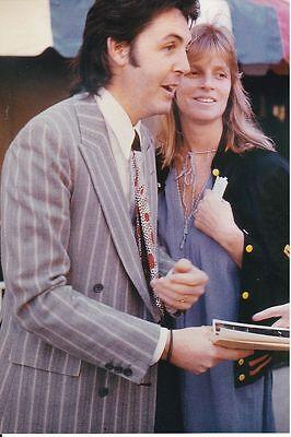 Paul McCartney w/Linda The Beatles 4 x 6 Color Photo # 1