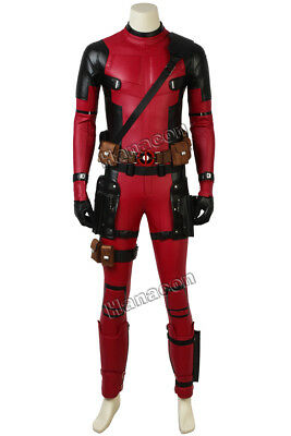 X-MEN Deadpool 2 Cosplay Costume Jumpsuit Superher Comic Con Men Outfit  Props