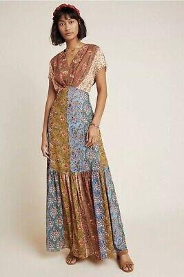 Anthropologie Sachin & Babi Angelica Boho Maxi Dress 8 Medium M